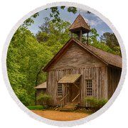 Possum Trot Church Round Beach Towel