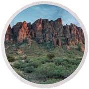 Post-dusk Superstitions Round Beach Towel by Greg Nyquist