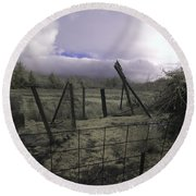 Round Beach Towel featuring the photograph Post Storm by Chriss Pagani