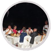 Post Wedding Celebrations Round Beach Towel