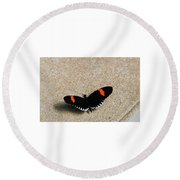 Postman Butterfly Round Beach Towel