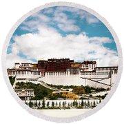 Potala Palace Dalai Lama Home Place In Tibet Kailash Yantra.lv 2016  Round Beach Towel
