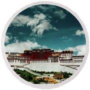 Potala Palace. Lhasa, Tibet. Artmif.lv Round Beach Towel