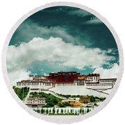 Potala Palace. Lhasa, Tibet. Dalai Lama. Yantra.lv Round Beach Towel