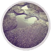 Pothole Love Round Beach Towel
