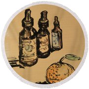 Potions Round Beach Towel