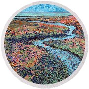 Pottery Creek Round Beach Towel