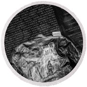 Pow Mia Never Forget Round Beach Towel