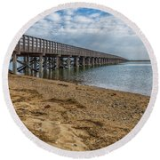 Powder Point Bridge Round Beach Towel