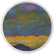 Powder River Reverie, 1 Round Beach Towel