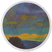 Powder River Reverie, 2 Round Beach Towel