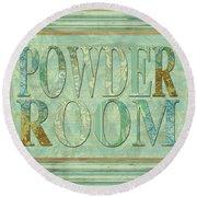 Powder Room Round Beach Towel