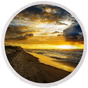 Power And Grace Round Beach Towel