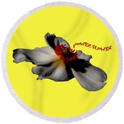 Power Flower Anemone Round Beach Towel