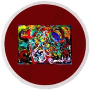 Power Of Colour Round Beach Towel