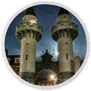 Powis Towers _ Old Aberdeen Round Beach Towel