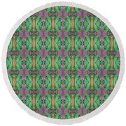 Round Beach Towel featuring the mixed media Pr Series by Clark Ulysse
