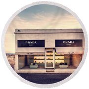 Prada Store Round Beach Towel
