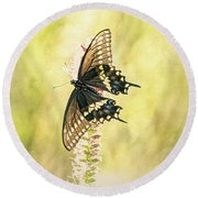Prairie Butterfly 2 Round Beach Towel