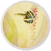 Prairie Butterfly 3 Round Beach Towel