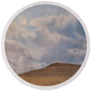 Prairie Hill Round Beach Towel