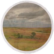 Prairie Light Round Beach Towel