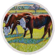 Prairie Lunch Round Beach Towel