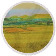 Prairie Reverie Round Beach Towel