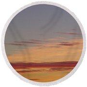 Prairie Sunset 2 Round Beach Towel