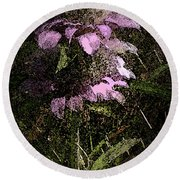 Prairie Weed Flower Round Beach Towel