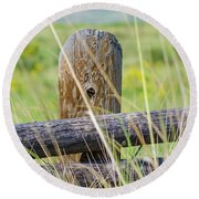 Prairie's Edge Round Beach Towel