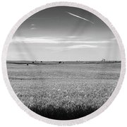 Prairies Round Beach Towel