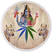 Praise The Lord Series Number 7 Round Beach Towel