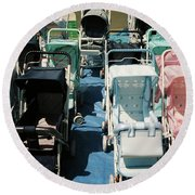 Pram Lot Round Beach Towel