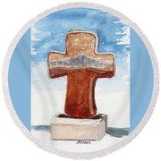 Prayer Cross Round Beach Towel