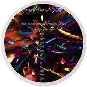 Round Beach Towel featuring the digital art Prayer Of An Artist 2 by Margie Chapman