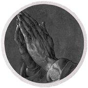 Praying Hands 1508 Round Beach Towel