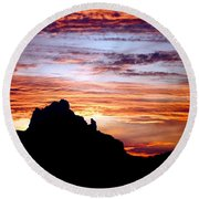 Praying Monk, Camelback Mountain, Phoenix Arizona Round Beach Towel