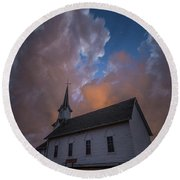 Round Beach Towel featuring the photograph Preacher by Aaron J Groen