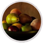 Precious Fruit Bowl Round Beach Towel
