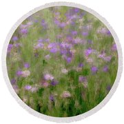 Precious Meadow Round Beach Towel