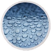 Precipitation 2 Round Beach Towel
