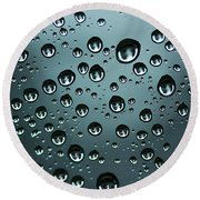 Precipitation Round Beach Towel
