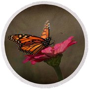 Prefect Landing - Monarch Butterfly Round Beach Towel