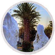 Round Beach Towel featuring the photograph Pregnant Water Fairy by Mariola Bitner