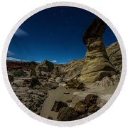 Prehistoric Formations 2 Round Beach Towel