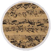 Prelude, Fugue And Allegro In E Flat Round Beach Towel