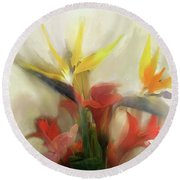 Prelude To Autumn Round Beach Towel