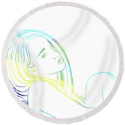 Prescence Round Beach Towel