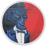 President Alienham Lincoln Round Beach Towel
